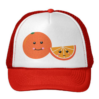 Orange mignonne casquettes de camionneur