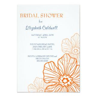 Orange nuptiale de l'invitation | de douche de carton d'invitation  12,7 cm x 17,78 cm