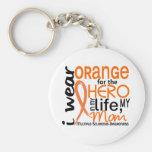 Orange pour la sclérose en plaques de milliseconde porte-clefs