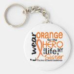 Orange pour la sclérose en plaques de milliseconde porte-clés