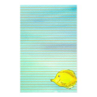 Orange tropicale jaune de poissons de Tang rayée Papiers À Lettres