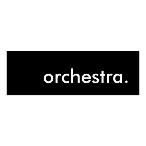 orchestre carte de visite