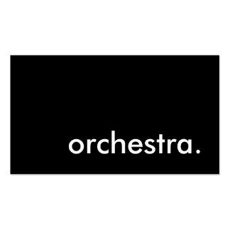 orchestre carte de visite standard