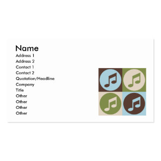 Orchestre d'art de bruit modèle de carte de visite