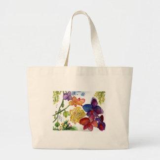 Orchidée 40 sur un sac