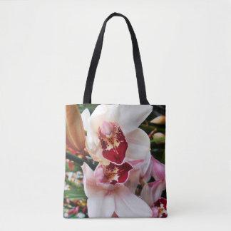 Orchidée blanche et rose de Phalaenopsis Sac