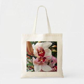 Orchidée blanche et rose de Phalaenopsis Sac Fourre-tout