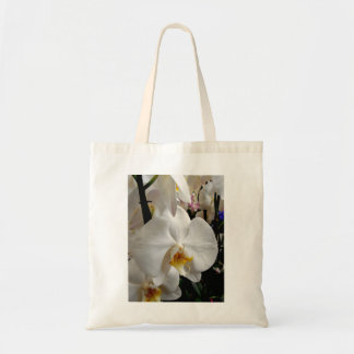 Orchidée blanche sac en toile