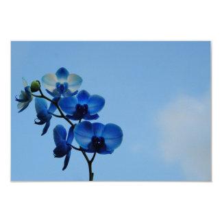 Orchidée bleue carton d'invitation 8,89 cm x 12,70 cm