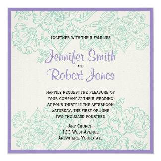 Orchidée et faire-part de mariage de Bohème