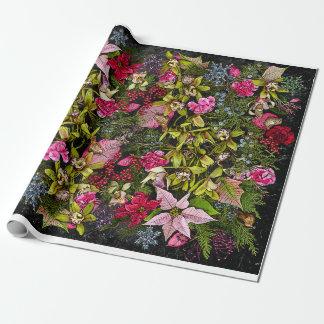 Orchidée Giftwrap de vacances Papier Cadeau