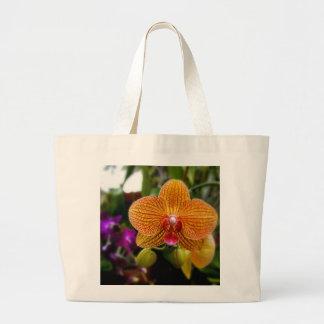 Orchidée orange grand sac