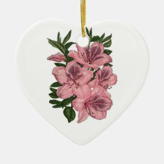 Orchidée Ornement Cœur En Céramique