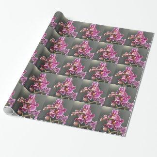 orchidée papier cadeau