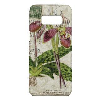 orchidée pourpre chic minable d'art botanique coque Case-Mate samsung galaxy s8