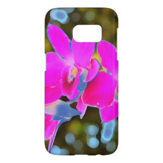 Orchidée rose coque samsung galaxy s7