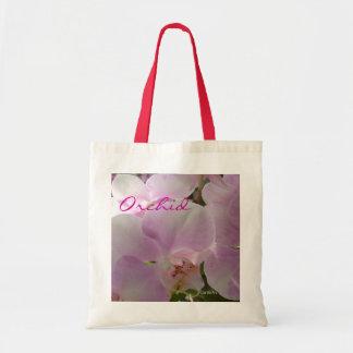 """Orchidée rose"""" Fourre-tout """"de lavande Sacs De Toile"""