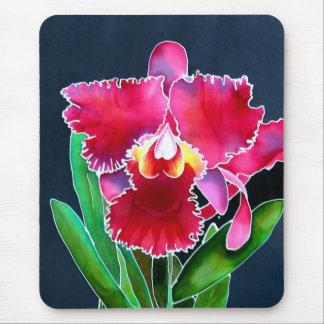 Orchidée rose simple tapis de souris