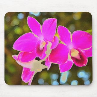 Orchidée rose tapis de souris