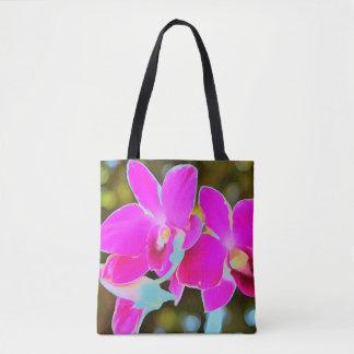 Orchidée rose tote bag