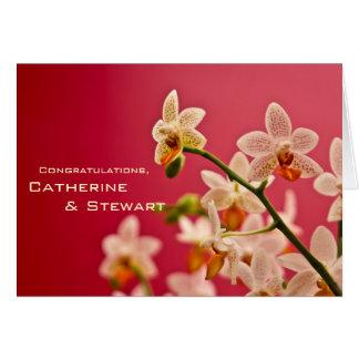 Orchidée rouge • Carte de félicitation de mariage