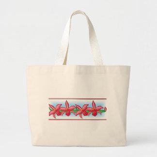 Orchidée rouge grand sac