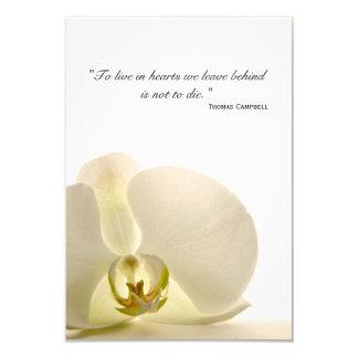 Orchidée sur le Merci blanc pour votre carte de