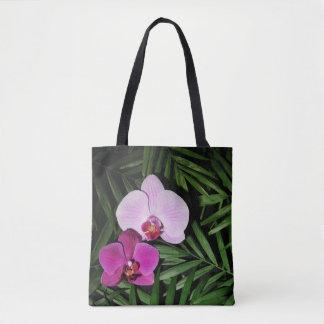Orchidées avec des palmettes sac