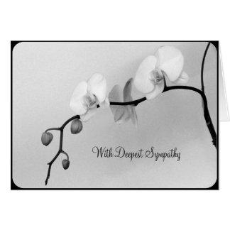 Orchidées blanches pour la mort de la mère - carte