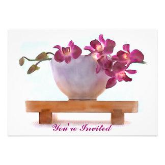 Orchidées dans une tasse de thé