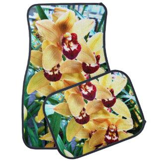 Orchidées jaunes de Cymbidium Tapis De Sol