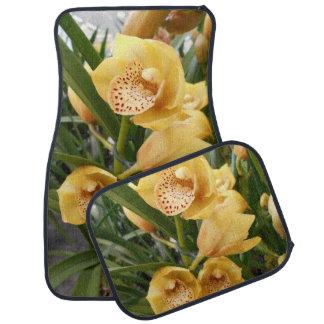 Orchidées jaunes de Cymbidium Tapis De Voiture
