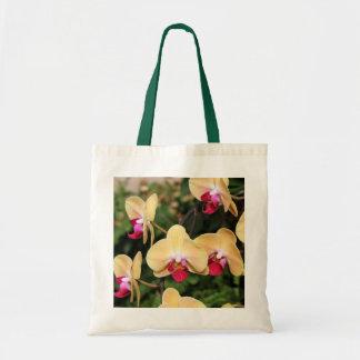 Orchidées jaunes et roses Fourre-tout Sac Fourre-tout