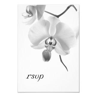 Orchidées noires et blanches épousant la carte de