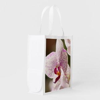 Orchidées par Shirley Taylor Sac Réutilisable