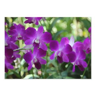 Orchidées pourpres invitation et carte de voeux