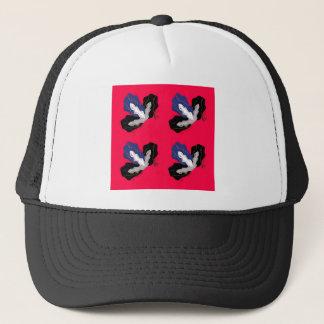 Orchidées rouge-rose sauvages avec le noir casquette
