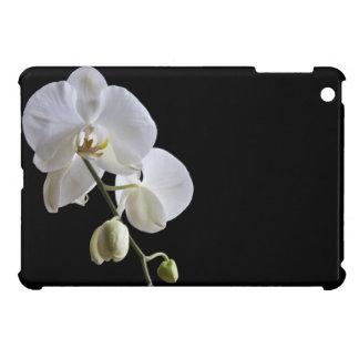 Orchidées sur le mini cas d'iPad noir Coque Pour iPad Mini