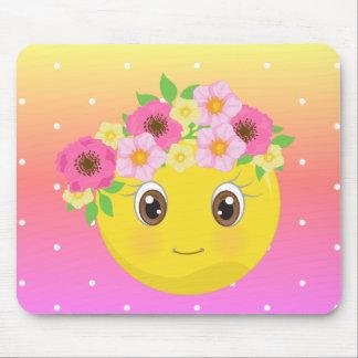 Ordinateur Girly Mousepad d'enfant de fleur de Tapis De Souris