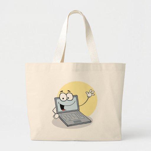 Ordinateur portable de ondulation amical sacs en toile