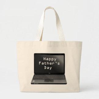 Ordinateur portable heureux de papas de fête des p sac en toile jumbo