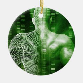 Ordonnancement ou ordre d'ADN comme abrégé sur la Ornement Rond En Céramique