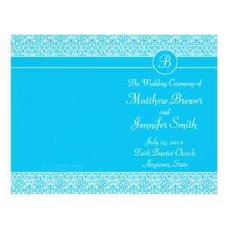 Ordre bleu de mariage de programme de service et d