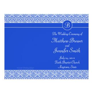 Ordre bleu de mariage de programme de service et d prospectus 21,6 cm x 24,94 cm
