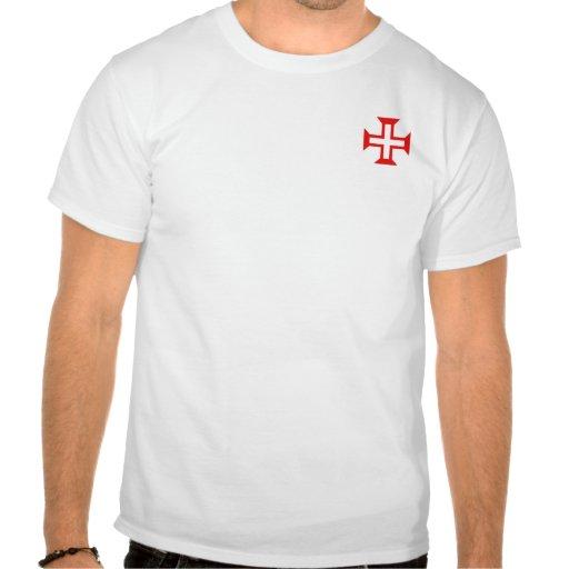 Ordre de croix du Christ sur la chemise de poche T-shirts