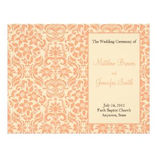 Ordre de mariage de programme de service et de cér prospectus en couleur