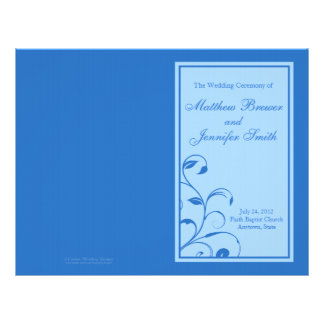 Ordre de mariage de programme de service et de cér prospectus 21,6 cm x 24,94 cm