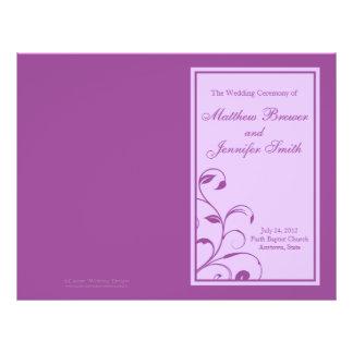 Ordre de mariage de programme de service et de prospectus 21,6 cm x 24,94 cm