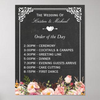 Ordre du signe floral de mariage de tableau du