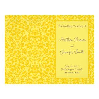 Ordre jaune de mariage de programme de service et  prospectus